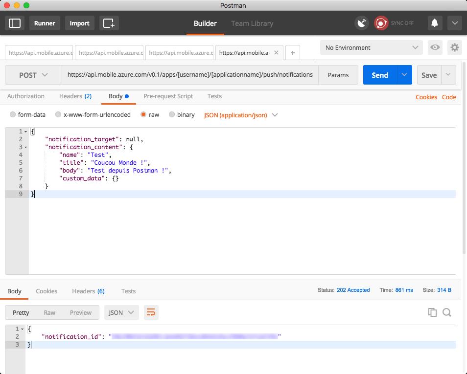 Push API response