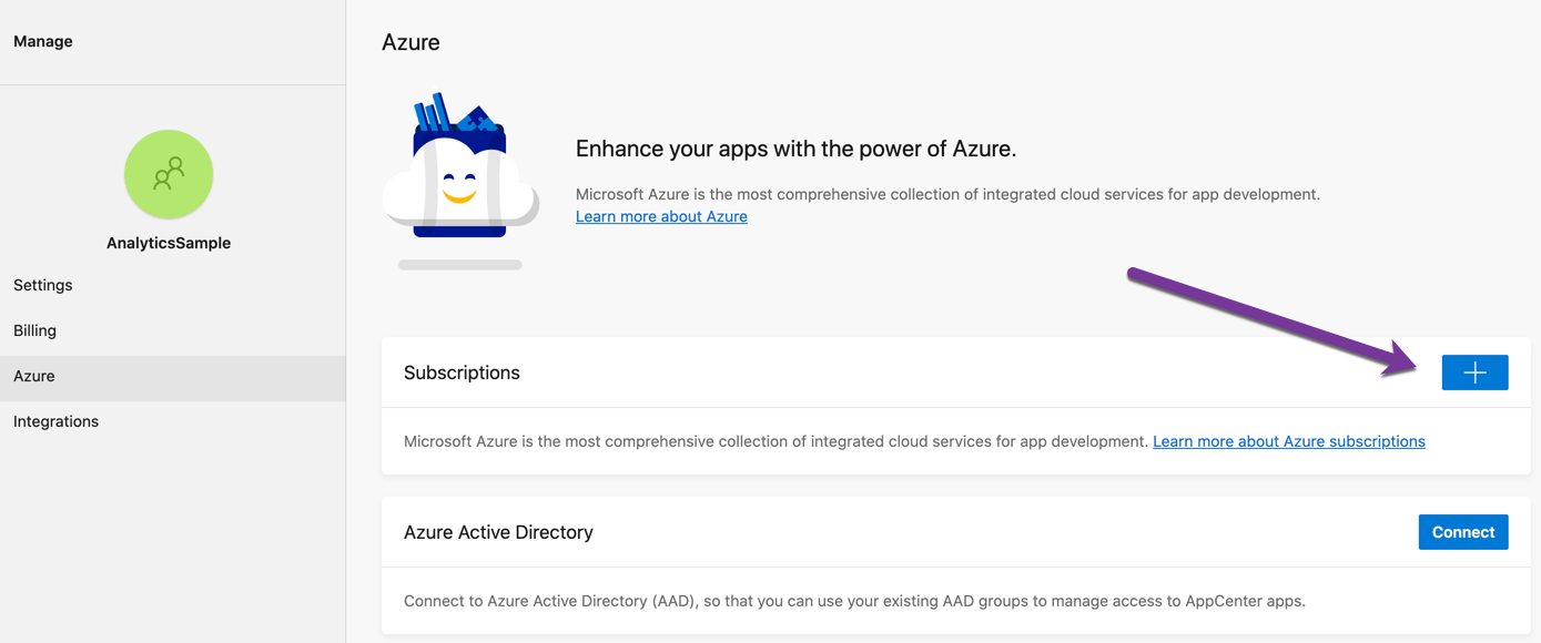mobile-analytics-manage-add-azure-subscription